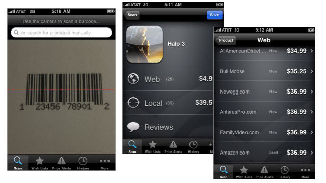ShopSavvy: barcode scanner for the thrifty