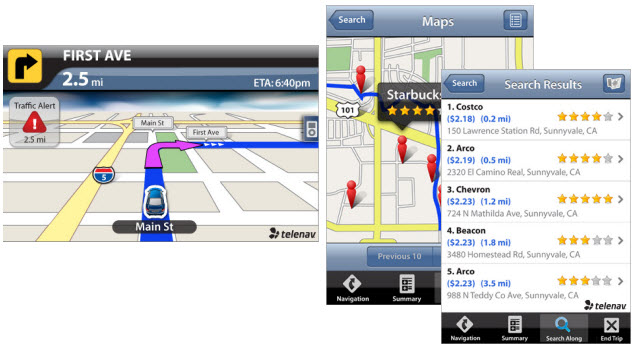 TeleNav GPS Navigator: phone as co-pilot